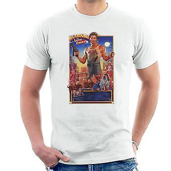 Little China Jack Burton Film Afiş Men's T-Shirt Büyük Trouble