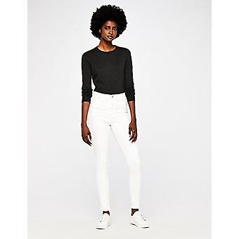 MERAKI Standard Women's Skinny High Waist Jeans, Off- Off-white, W36 x L32
