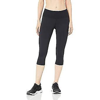 Essentials Women's Studio Sculpt Mid-Rise Capri Yoga Legging, Black, L...