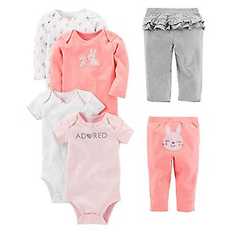 Simple Joys by Carter's Baby Girls' 6-Piece Little Character Set, Pink Bunny,...