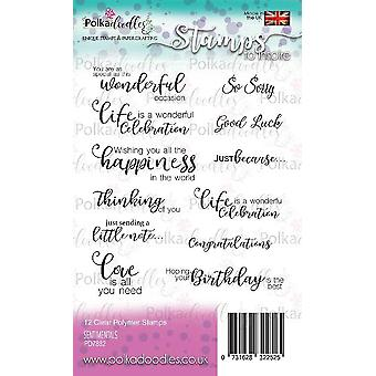 Polkadoodles Clear Stamps - Sentimentals