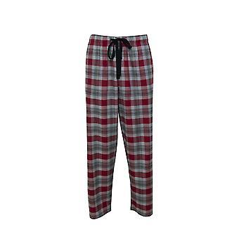 Cyberjammies Liam 6514 Miehet&s Viininpunainen Mix Tarkista Pyjama Pant