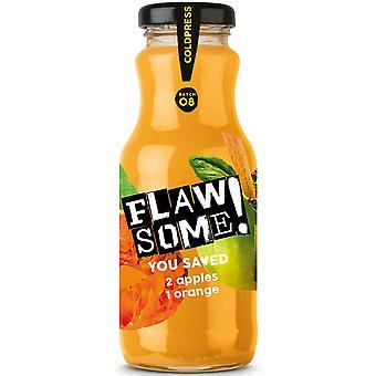 Flawsome! Apple & Orange Cold Pressed Juice