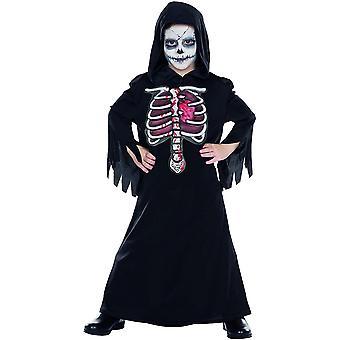 3D Horror Robe Geist Kinder Kostüm Gewand Grusel Skelett