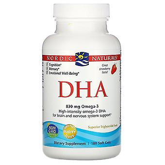 Nordic Naturals, DHA, Strawberry, 180 Soft Gels