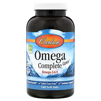 Carlson Labs, Omega Complete Gems, 180 Soft Gels