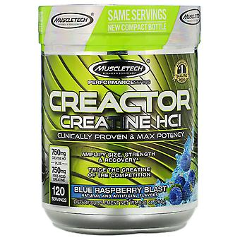 Muscletech, Performance Series, CREACTOR, Creatine HCI, Blue Raspberry Blast, 9.