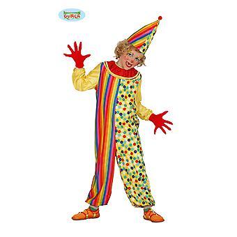 Clownkostüm kleurrijke clown kostuum van puntige hoed kinderen