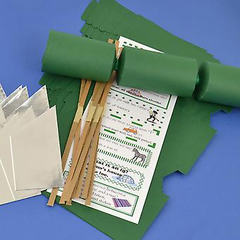 8 Deep Green Make & Fill Your Own DIY ReyClable Christmas Cracker Craft Kit