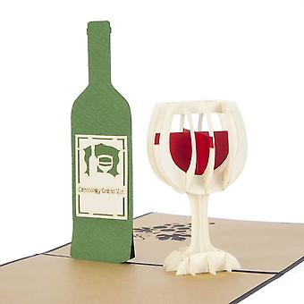 Cardology Wine Pop Up Card