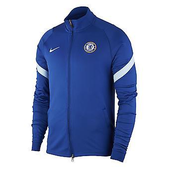2020-2021 Chelsea Nike Strike Track Takki (Sininen)
