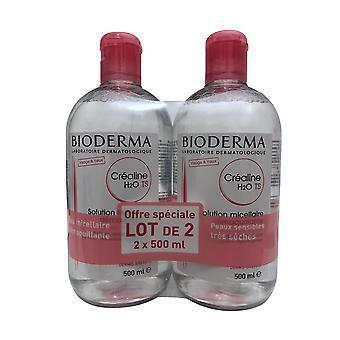 Bioderma Crealine H2O TS-oplossing Micellaire Set 16.9 OZ elk
