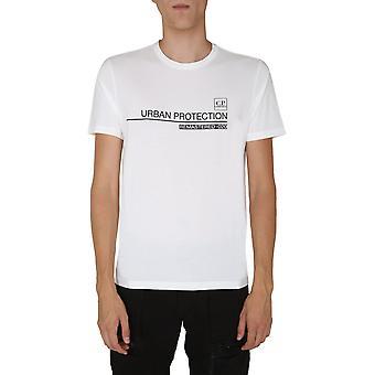 C.p. Företag 09cmts168a005100w103 Män's Vit Bomull T-shirt