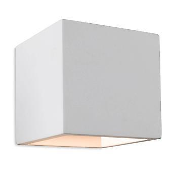 Firstlight Troy - 1 Light Plaster Indoor Wall Light White, G9