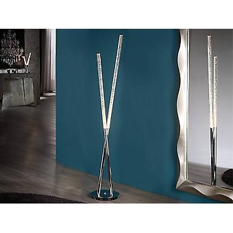 Schuller Cosmo - Integrated LED Floor Lamp Chrome Bubble Effect