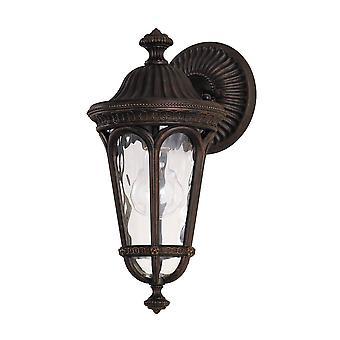 elstead regent domstol - 1 lys utendørs liten vegg lanterne lys valnøtt IP44, E27