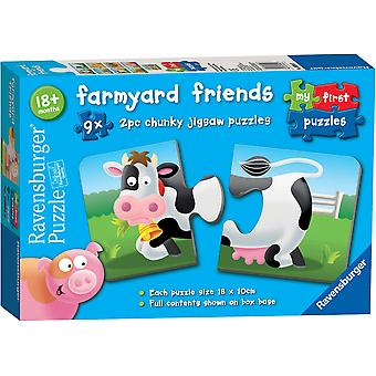 Ravensburger Farmyard Friends 9 x 2pc Puzzles