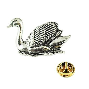 Ties Planet Swan Engels Pewter Lapel Pin Badge