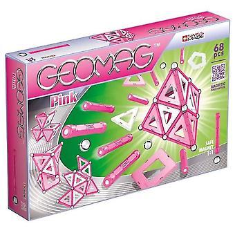 Geomag magnetiske 68 stk byggesett - rosa