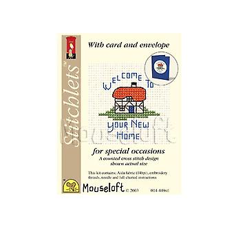 New Home Stitchlets Counted Cross Stitch Card Making Kit