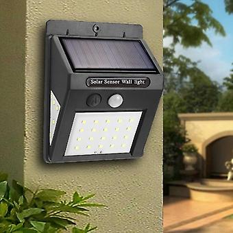 الطاقة الشمسية القابلة لإعادة الشحن بقيادة مصباح كهربائي في الهواء الطلق جدار غسالات حديقة مصباح الديكور Pir Motion استشعار الجدار ضوء