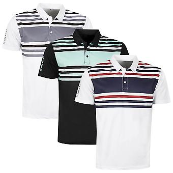 Stuburt Mens Evolve Pure Stripe Performance Wicking Golf Polo Shirt
