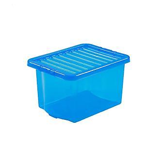 Wham opslag pakket van 5-24 liter Wham Crystal plastic Opbergdozen met deksels