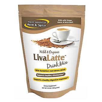 Mistura de bebidas de ervas e especiarias norte-americanas LivaLatte, 100 gramas