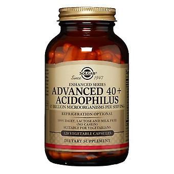 Solgar Advanced 40+ Acidophilus Vegetable Capsules, 120 V Caps