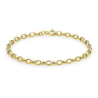 Evigheden 9ct Gold Hollow Oval Belcher armbånd