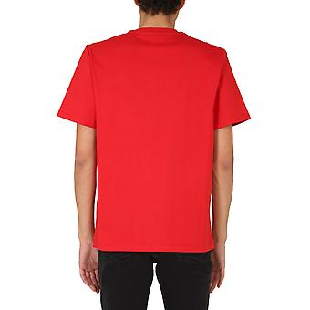 Msgm 2940mm16220759818 Men's Red Cotton T-shirt