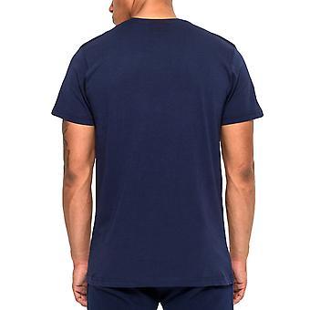 New Era Seattle Seahawks Team Logo NFL Football Crew Neck T-Shirt Tee Top - Navy