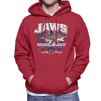 Jaws Shark Hunting Expedition Amity Island Men's Hooded Sweatshirt