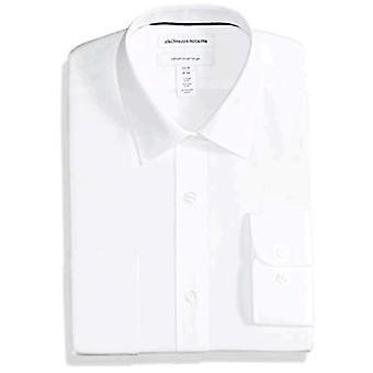 Essentials Men's Regular-Fit Wrinkle-Resistant Long-Sleeve Solid Dress...