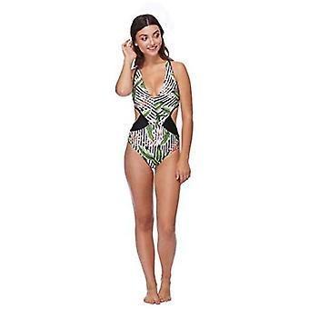 Body Glove Women's Talia One Piece Monokini Swimsuit, Samoa Black, Large