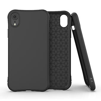 Pour iPhone XR ENKAY ENK-PC004 Solid Color TPU Slim Case Cover (Noir)