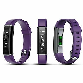 Aquarius AQ113 Fitness Tracker With Heart Rate Monitor- Purple