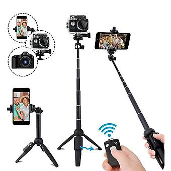 Extendable Phone Tripod Selfie Stick With Remote  For Smartphone Dslr Slr Gopro