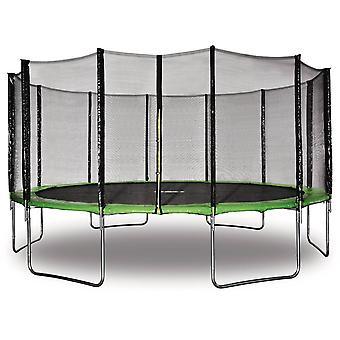 Trampolon 'quot;Yoopi'quot; - 4.90 m - Verde - Con red - stopover - funda - anclaje kit