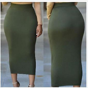 Muslim Women's Sexy Skinny Pencil Thick Skirt Ladies Hips Wrap Bodycon High