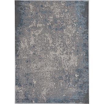 """LUNA 7131 3'3 X 4'11"""" - Silber/Blauer Teppich"""