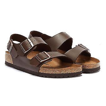 Birkenstock Milano Birko Flor Dark Brown Sandals