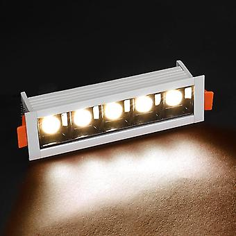 Line Recessed Ceiling Lamp 110v 220v Bedroom Kitchen Indoor Led Grille Lighting