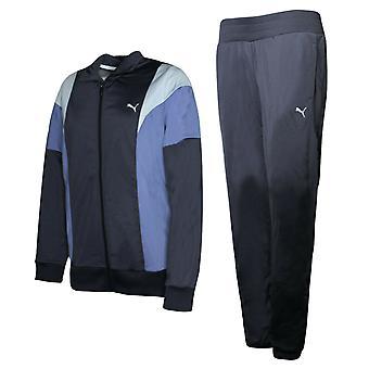 Puma Poly Suit Mujer Cremallera Chándal Ligero Poliéster Azul 834333 16 A50B