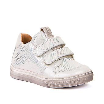 FRODDO Double Velcro Leather Shoe Silver