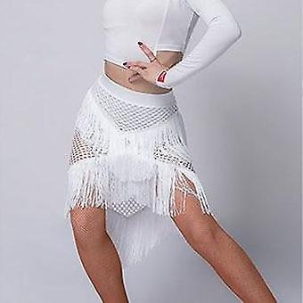 Fringe Latin Dance Dress, Vrouwen Kwastje Latin Dance Skirt
