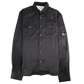 CP Company Cp Company Front Pocket Button Up Overshirt Black 999