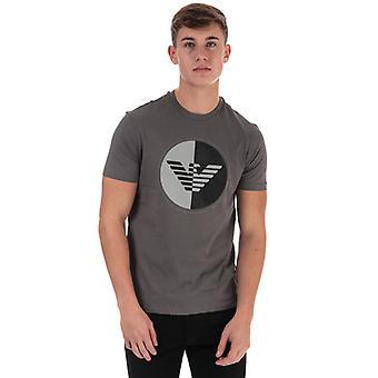 Menn's Armani Circular Print T-skjorte i grått