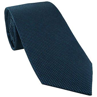 Michelsons av London Plain Silk Tie - Blågrønn