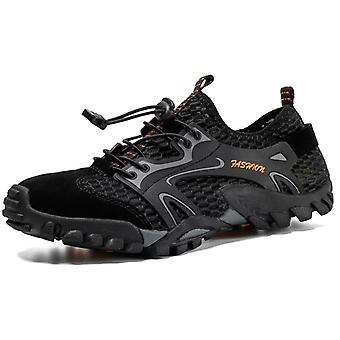 Zapatos de senderismo al aire libre transpirable para hombre 9321 Negro